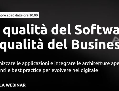"29.09 webinar ""La qualità del Software, la qualità del Business"""